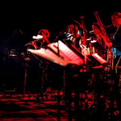 <strong>Noordelijke finale</strong><br><p>van het nationaal compositiewedstrijd voor jonge componisten. Het Nederlands Blazers Ensemble speelt samen met Elbrich van Stralen een muziekstuk - Drachten</p>