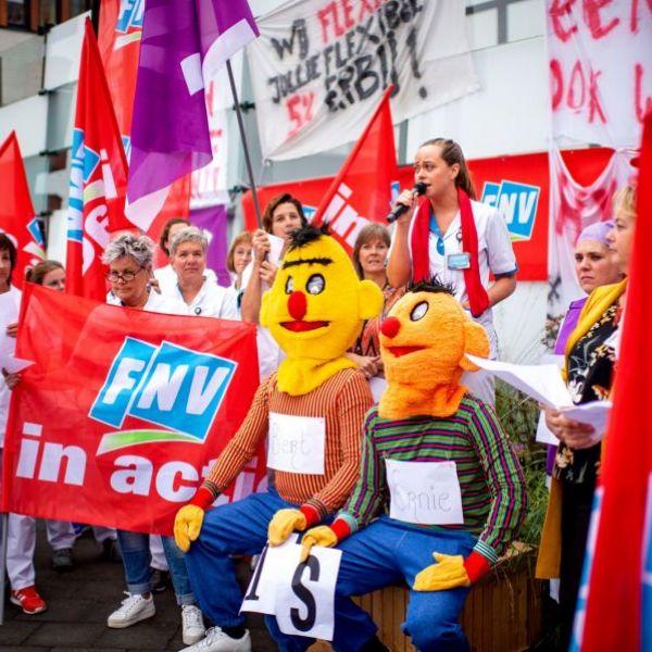 <strong>Ziekenhuis protest</strong><br><p>Protestactie van verpleegkundigen en ander personeel van ziekenhuis Nij Smellinghe - Drachten</p>